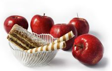 Apples And Cakes Royalty Free Stock Photos
