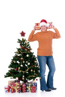 Free Happy Christmas Girl Stock Images - 6506094
