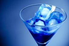 Free Ice Cube In Martini Glass Stock Images - 6506774
