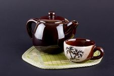 Teapot And Cups Royalty Free Stock Photo