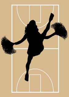 Free Basketball Cheerleader 5 Stock Photos - 6507283