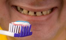 Free Person Brushing Teeth Royalty Free Stock Photos - 6507958