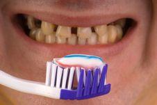 Free Person Brushing Teeth Royalty Free Stock Image - 6508016