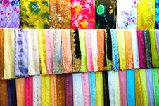Free Colourful Fabrics Royalty Free Stock Photography - 6508107