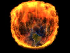Free Earth In Fire Stock Images - 6508634