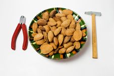 Free Almond Seeds And Tools Stock Photography - 6509012