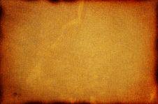 Old Burned Cardboard. Stock Photo