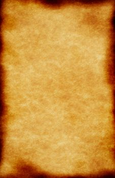 Old Burned Cardboard. Royalty Free Stock Image