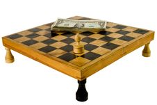 Free Old Chessboard And Dollars Royalty Free Stock Photo - 6509895