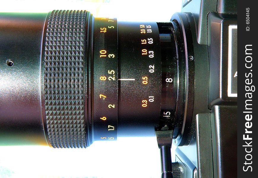 8 mm camera detail