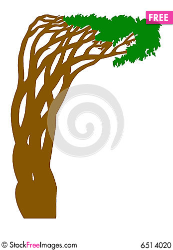 Free Silhouette Abstract Tree Stock Photo - 6514020