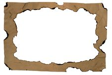 Free Burned Old Paper With A Hole Royalty Free Stock Photography - 6510167