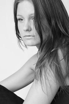 Free Young Beautiful Sad Woman Stock Photography - 6510772