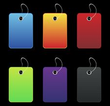 Free Colored Labels - On Black Royalty Free Stock Photo - 6510955