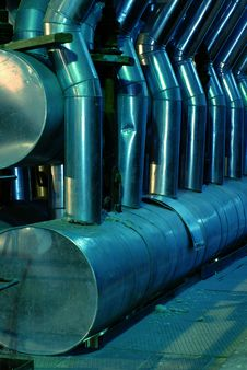 Free Pipes, Tubes, Machinery And Steam Turbine Stock Images - 6511184