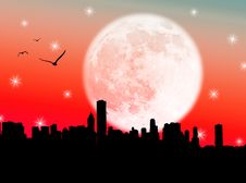 Free City In The Moon Royalty Free Stock Photography - 6511277