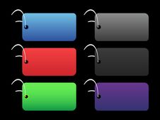Free Colored Tags - 2 - On Black Stock Photo - 6511330