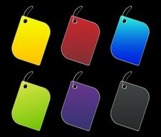 Free Colored Tags - 4 - On Black Stock Photo - 6511510
