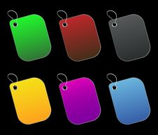 Free Colored Tags - 5 - On Black Royalty Free Stock Images - 6511589