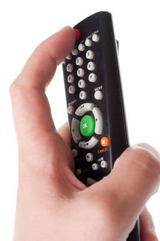 Free Infrared Remote Control In Hand Stock Photo - 6511720