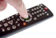 Infrared Remote Control In Hand Royalty Free Stock Image