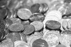 Free Black And White Euro Coins Royalty Free Stock Photo - 6512015