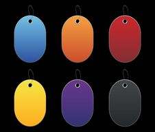 Free Colored Tags - 6 - On Black Stock Photos - 6512503