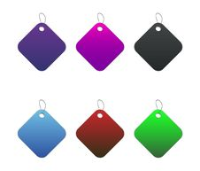 Free Colored Tags - 7 - On White Royalty Free Stock Images - 6512569