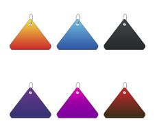 Free Colored Tags - 8 - On White Royalty Free Stock Image - 6512606