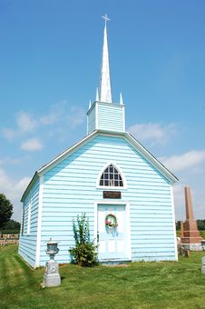 Free An Blue Wooden Church. Stock Photos - 6512903
