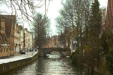 Free Channel Of Bruges. Royalty Free Stock Photography - 6513057