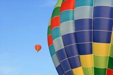 Closeup Of A Bright Hot Air Balloon Stock Photos