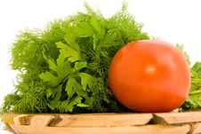 Free Tomato With Parsley Stock Image - 6513511