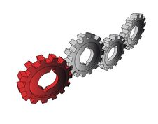 Free Isolated Cogwheels Stock Images - 6514164