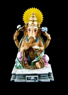 Icon Of Lord Ganesh Stock Images