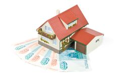 Free Miniature House And Money. Royalty Free Stock Images - 6514579