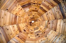 Gazebo Ceiling In A Spiderweb Pattern Royalty Free Stock Photography