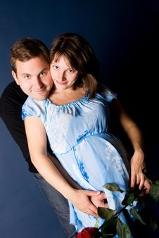 Free Pregnant Woman And Her Husband Embracing Royalty Free Stock Image - 6516516