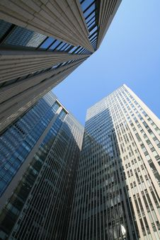 Free Modern Skyscrapers At Wide Angle Stock Image - 6517031