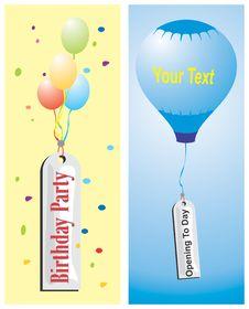 Banner Balloon Royalty Free Stock Photo