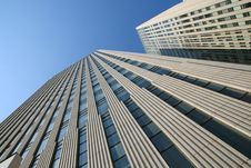 Modern Skyscrapers At Wide Angle Stock Photo