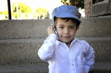 Free On The Phone Royalty Free Stock Photos - 6517508