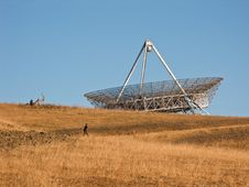 Free Satellite Dish Atop Hill Stock Photography - 6517522
