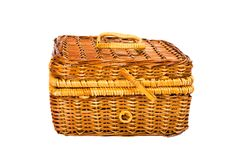 Free Yellow Wicker Basket Royalty Free Stock Images - 6517859