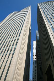 Free Modern Skyscrapers At Wide Angle Stock Image - 6517901