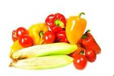 Free Vegetables On White Background Royalty Free Stock Photography - 6518017
