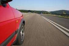 Highway Drive - Autobahnfahrt Stock Images