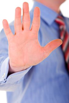 Business Man Hand Gesture Stock Photos