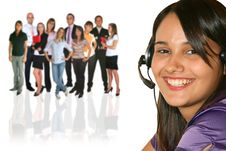 Businesswoman And Businessteam Stock Photo