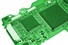 Free Computer Board In Green Style Royalty Free Stock Photos - 6518598